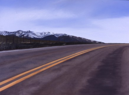 Almost to Luther (Hwy 78 Luther, Montana) / oil on board / 10×14″ / Sold