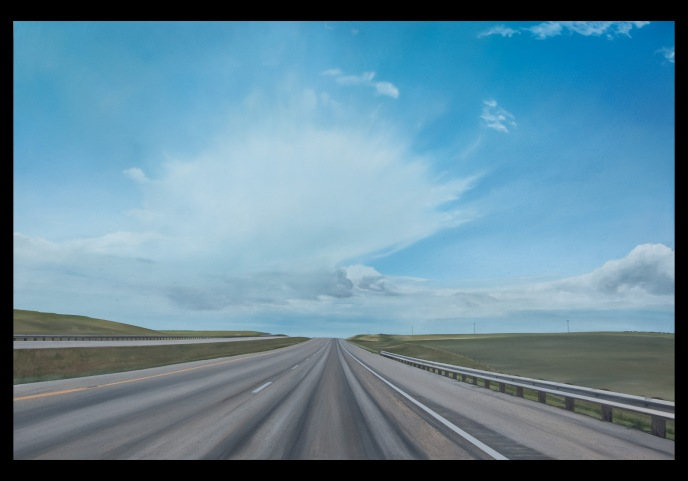 Cruise Control (West of Belgrade, Montana) / oil on board / 16×24″ / Sold