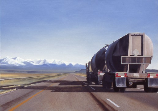 Going Crazy (I-90 West of Greycliff, Montana) / oil on board / 10×14″ / Sold