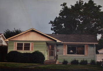 Grandpa Lewis Lived on Clark Ave with Grandma Dolly (Billings, Montana) / oil on board / 11×14″ / NFS