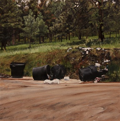 Midnight Snack (Near Missoula, Montana) / oil on board / 12×12″ / Sold