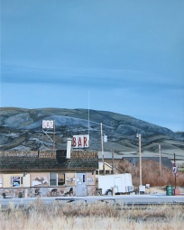 Not looking very lively over at Lively's (Melrose, Montana) / oil on board / 12×15″ / Sold