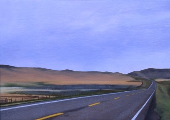 Rolling on Highway 89 (Outside White Sulfur Springs, Montana) / oil on board / 10×14″ / Sold